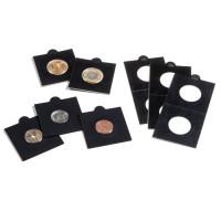 LEUCHTTURM BLACK coinholder 17,5mm. SELF-ADHESIVE