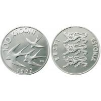 Estonia 1992 Monetary Reform 100 kroon