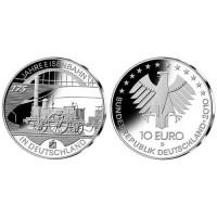 Germany 2010 10 euro Eisenbahn in Deutschland D