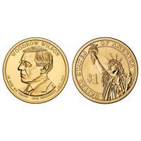 USA 2013 1 dollar Woodrow Wilson 28th President D