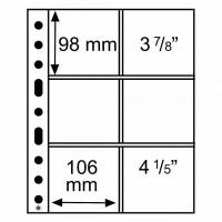 Leuchtturm coin sheets GRANDE 6 pockets 106x98 mm