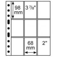 Leuchtturm coin sheets GRANDE 9 pockets 68x98 mm
