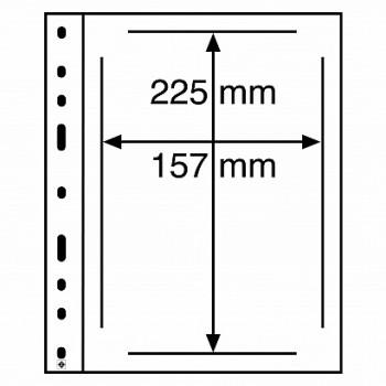 Leuchtturm coin sheets OPTIMA 1 way division clear