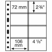 Leuchtturm coin sheets GRANDE 8 pockets 106x72 mm