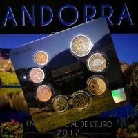 Andorra 2017 Euro coins BU set