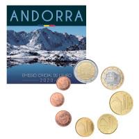 Andorra 2020 Euro coins BU set