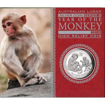 Australia 2016 Australian Lunar Silver Coin Series II 2016 Year of the Monkey