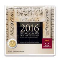 Austria 2016 Euro coins BU set