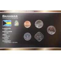 Bahamas 2005-2007 year blister coin set