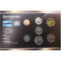 Bostwana 2000-2007 year blister coin set