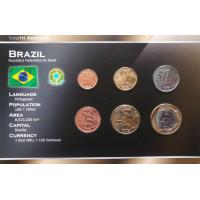 Brazil 2004-2009 year blister coin set