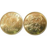 Estonia 2008 1 kroon (Republic of Estonia 90)