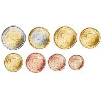 Estonia 2011 Euro coins UNC set