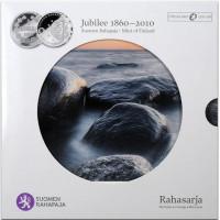 Finland 2010 Euro coins BU set 1860-2010 1 Markka