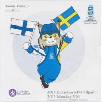 Finland 2013 Euro coins BU set Ice Hockey 5 euro