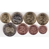 Finland 2011 Euro coins UNC set