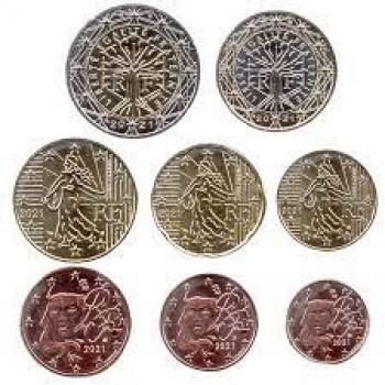 France 2021 euro coin UNC set