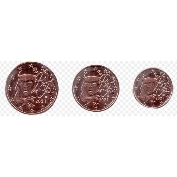 France 2021 Euro coin mini set