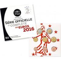 France 2016 Euro coin BU set
