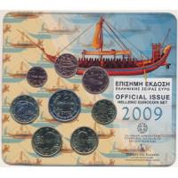 Greece 2009 Euro coins BU set