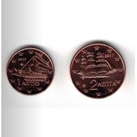 Greece 2017 1 and 2 cent mini set