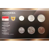 Indonesia 1999-2010 year blister coin set