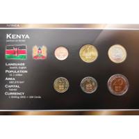 Kenya 1995-2005 year blister coin set
