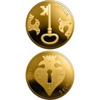 Latvia 2021 5 euro The Key