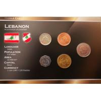 Lebanon 1996-2006 year blister coin set