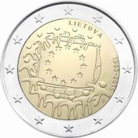 Lithuania 2015 30 years of the EU flag