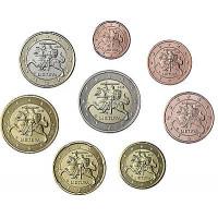 Lithuania 2015 Euro coins UNC Set
