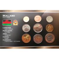 Malawi 1996-2006 year blister coin set