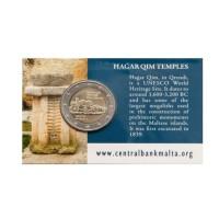 Malta 2017 Hagar Qim Temple coin card