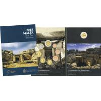Malta 2018 Euro coins BU set with commemorative 2 euro coin