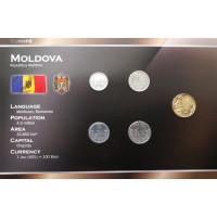 Moldova 2006-2008 year blister coin set