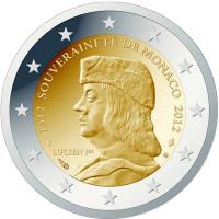 Monaco 2012 500th anniversary of the establishment of Monaco's sovereignty by Lucien I Grimaldi