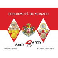 Monaco 2017 Euro coins BU set