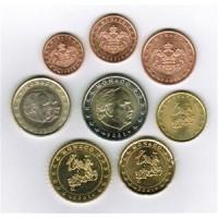 Monaco 2001 Euro coins UNC set