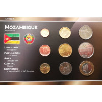 Mozambique 2006 year blister coin set
