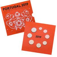 Portugal 2019 Euro coins BU set