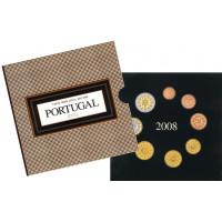 Portugal 2008 Euro coins BU set
