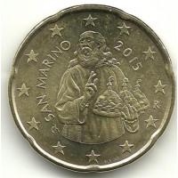 San Marino 2015 20 cent