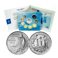San Marino 2020 Euro coins BU set with 5 euro silver coin