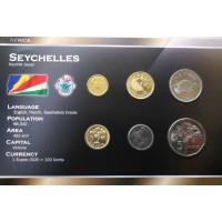 Seychelles 2003-2007 year blister coin set