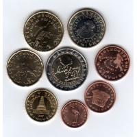 Slovenia 2007 Euro coins UNC Set
