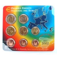 Spain 2002 Euro Coins BU Set