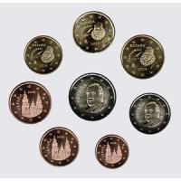 Spain 2014 Euro coins UNC set