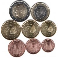 Spain 2015 Euro coins UNC set