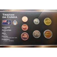 Tristan Da Cunha 2008 year blister coin set