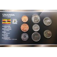 Uganda 1987-2007 year blister coin set